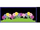 Стикер за стена фриз - ТРЕВА с цветя