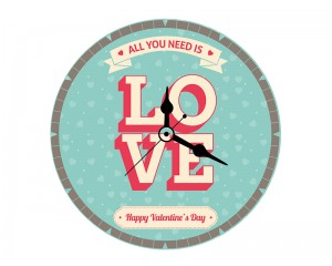 Стенен часовник LOVE