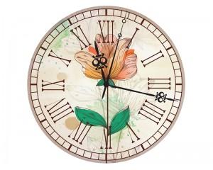 Стенен часовник Цвете класик