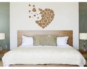 Декоративен самозалепващ стикер Златисто сърце