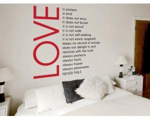 Декоративен самозалепващ стикер Композиция сърце