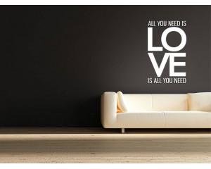 Декоративен самозалепващ стикер Любов