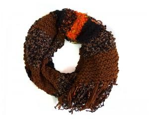 Ръчно плетен дамски зимен шал микс 2 Babini
