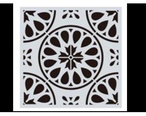 Шаблон за боядисване на плочки #2 - 15x15 cm