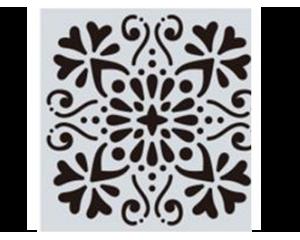 Шаблон за боядисване на плочки #3 - 15x15 cm