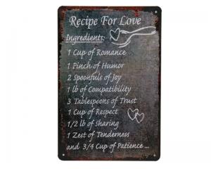 Стенна метална плоча с надпис