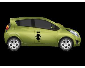 Стикер за автомобил драскаща котка