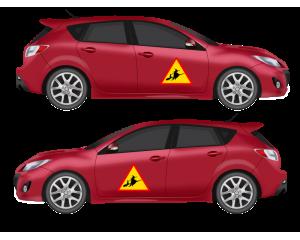 Стикер за автомобил Внимание Вещици