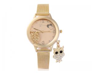 Елегантен златист дамски часовник GINAVE