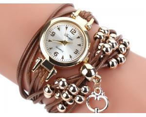 Часовник гривна в кяфяво и златисто