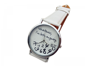 Спортно-елегантен часовник в бяло