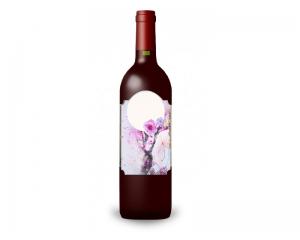 Етикет за бутилки в розово - 50 бр