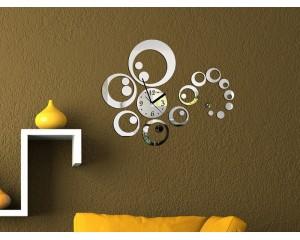 Огледален стенен часовник - стикер