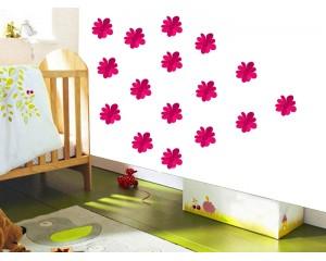Комплект цветя - самозалепващ стикер
