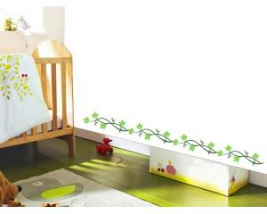 Фриз за детска стая зелено клонче - самозалепващ стикер