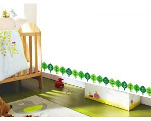 Фриз за детска стая зелени листа - самозалепващ стикер