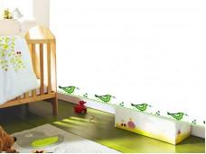 Фриз за детска стая зелени птици - самозалепващ стикер