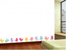 Фриз за детска стая птици - самозалепващ стикер