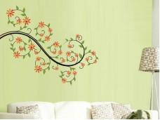 Самозалепващ стикер за стена - Цветно клонче