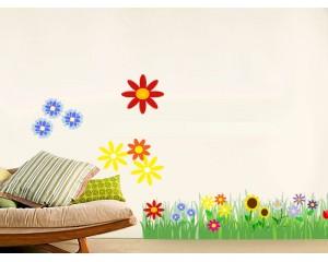 Стикери за детска стая - фриз цветя