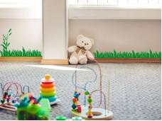 Декоративен самозалепващ стикер ФРИЗ трева с бамбуково клонче