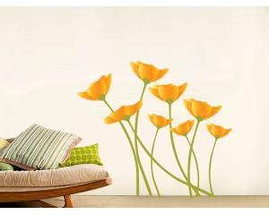 Стикер за стена - цветя