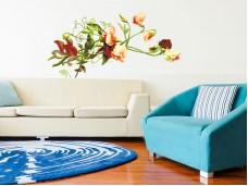 Самозалепващ стикер за стена - Червено цвете