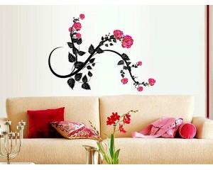 Декоративен стикер за стена Свежи цветя