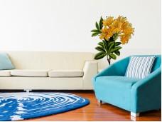 Самозалепващ стикер за стена - Оранжево цвете