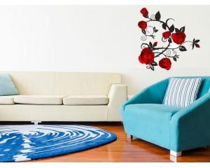 Декоративен стикер за стена Червени рози