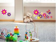 Декоративен самозалепващ стикер Цветя за детска стая
