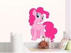 Стикер за детска стая - Розов еднорог