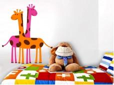 Стикер за детска стая - Цветни жирафи