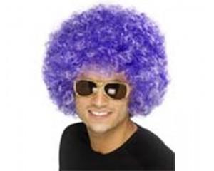 Лилава афро перука синтетична