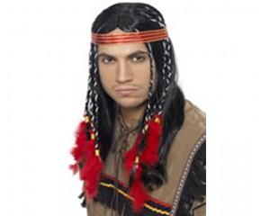Мъжка перука Индианец - синтетична