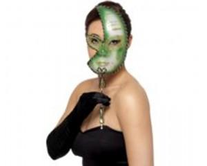 Mardi Gras зелена маска за лице