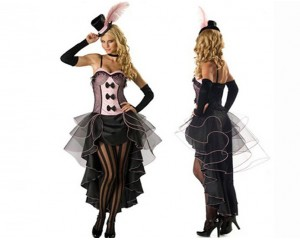 Изключителен дамски костюм кабаре - комплект