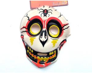 Бяла Хелоуин маска детска