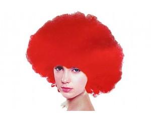Червена афро перука синтетична