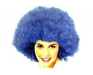 Синя афро перука синтетична