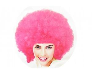 Розова афро перука универсална