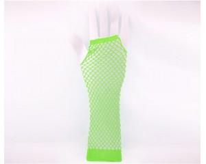 Дамски мрежести ръкавици зелен неон