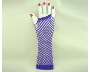 Дамски мрежести ръкавици цвят син