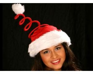 Коледна полиестерна шапка със спирала
