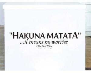 Декоративен стикер за стена Hakuna Makata