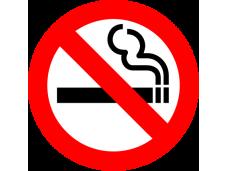 Самозалепващ стикер Пушенето забранено