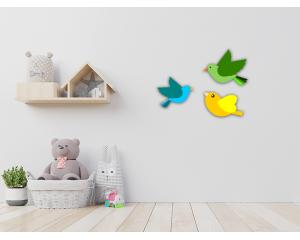Стикер за детска стая Цветни птици