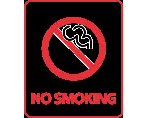 Самозалепващ стикер NO SMOKING