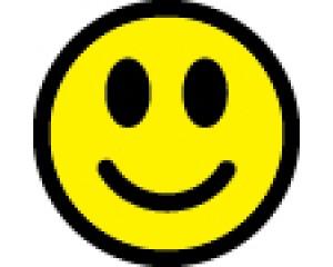 Самозалепващ стикер Емотикон Усмивка