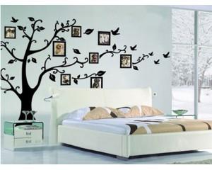 Стикер за стена - дърво с място за рамки